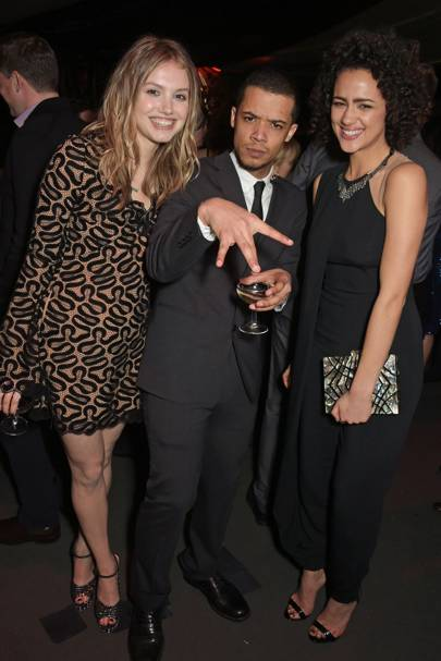 Hannah Murray, Jacob Anderson and Nathalie Emmanuel