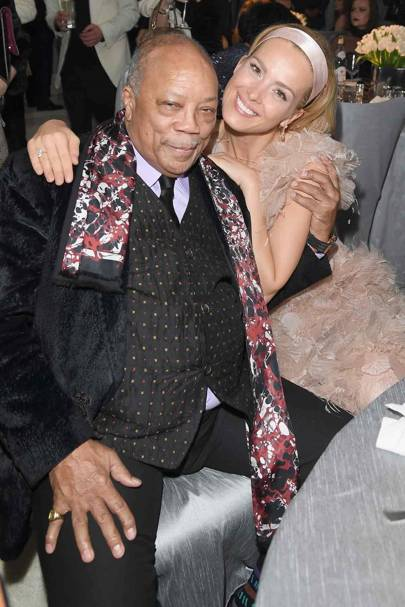 Quincy Jones and Petra Nemcova