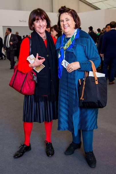 Janice Blackburn and Suzy Menkes