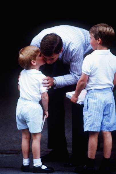 Prince Harry, the Duke of York and the Duke of Cambridge