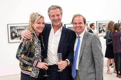 Jori White, Hugo Burnand and Lord Dalmeny