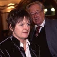 Mrs John Mortimer and John Mortimer