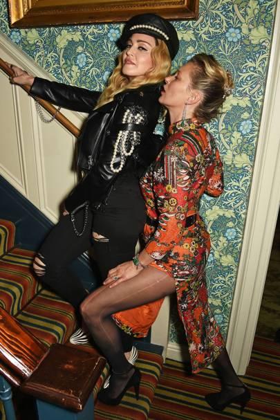 Madonna and Kate Moss
