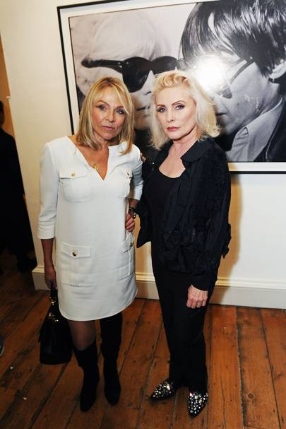 Helen Fielding and Debbie Harry