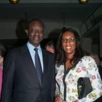 Tidjane Thiam and Annette Thiam