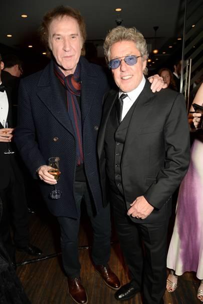 Ray Davies and Roger Daltrey