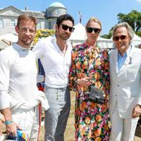 Jensen Button, Joseph Bates, Jodie Kidd and the Duke of Richmond