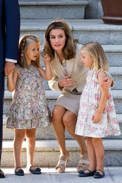 Queen Letizia of Spain, Crown Princess Leonor of Spain and Princess Sofia of Spain