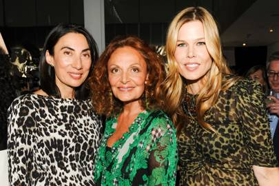 Mary Alice Stephenson and Diane von Furstenberg and Anh Duong