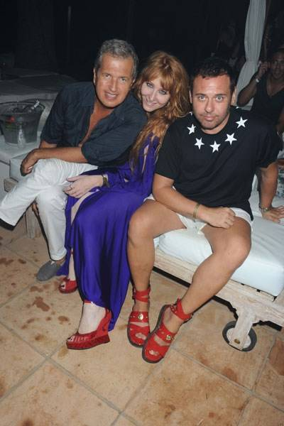 Mario Testino, Charlotte Tilbury and Mert Alas