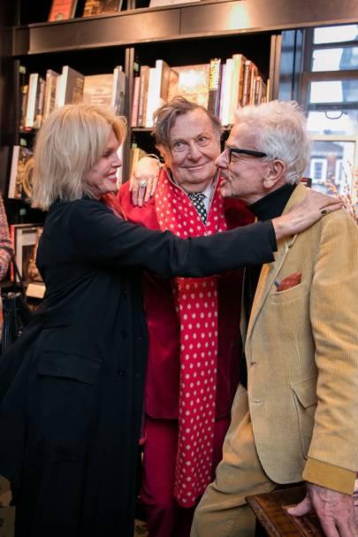 Joanna Lumley, Barry Humphries and Nicky Haslam