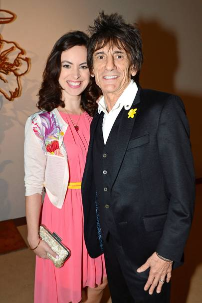 Sally Humphreys and Ronnie Wood