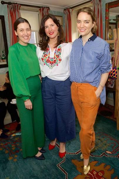 Emilia Wickstead, Celia Munoz and Mariella Tandy