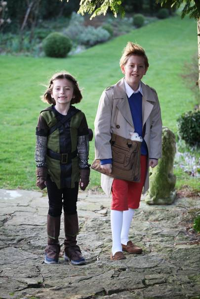 Lottie Alexander as Robin Hood and Henry Alexander as Tintin