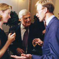 Mrs Charles White, Sir Derek Alun-Jones and James Campbell-Gray