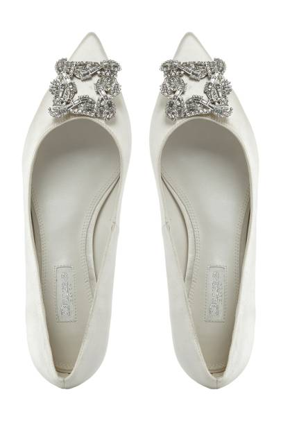 Dune flat wedding shoes