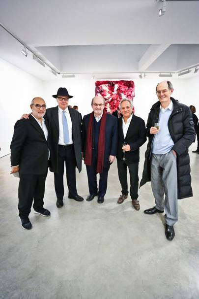 Alan Yentob, Nicholas Logsdail, Sir Salman Rushdie, Sir Anish Kapoor and Richard Cork