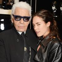 Karl Lagerfeld and Tallulah Harlech