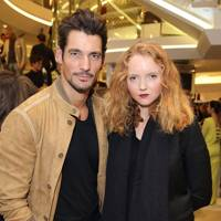 David Gandy and Lily Cole