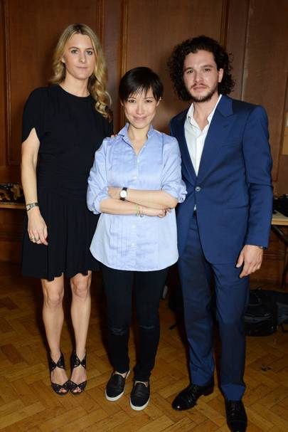 Lady Kinvara Balfour, Sandra Choi and Kit Harington
