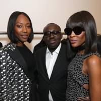 Vanessa Kingori, Edward Enniful and Naomi Campbell