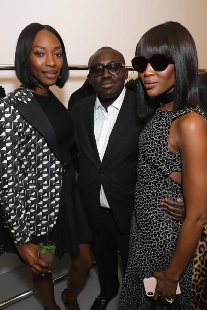 Vanessa Kingori, Edward Enninful and Naomi Campbell
