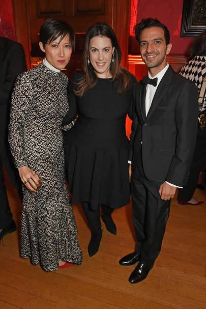 Sandra Choi, Mary Katrantzou and Imran Amed