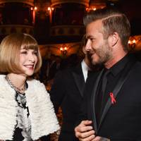 Anna Wintour and David Beckham