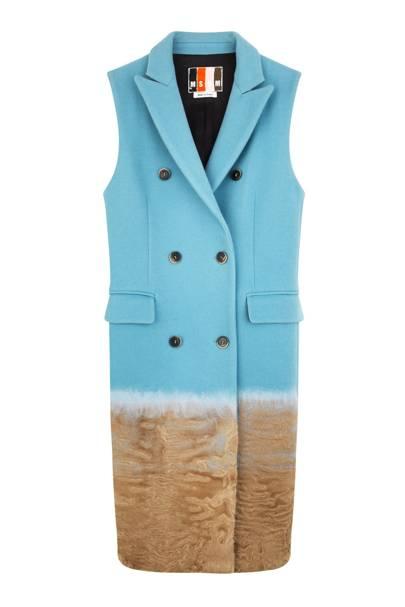 Wool & lambskin gilet, £1,420, by MSGM