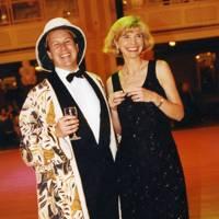 Randolph Churchill and Mrs William Asprey
