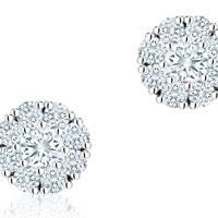 Birks snowflake diamond earrings