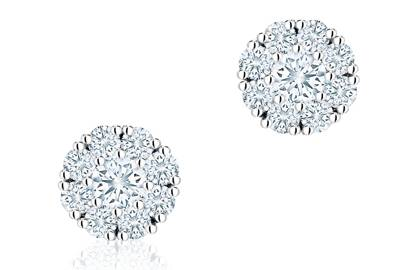 Birks snowflake diamond earrings