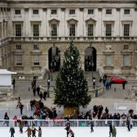 The Somerset House Christmas tree