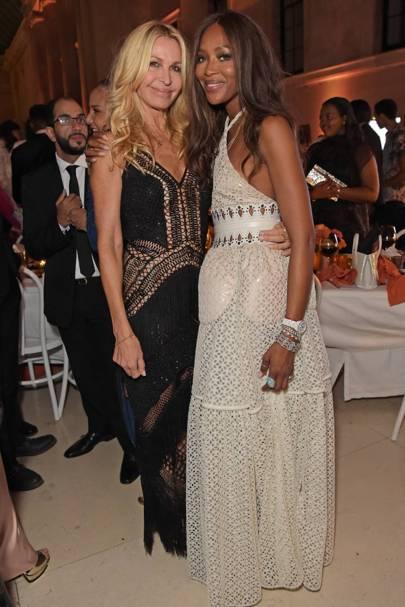 Melissa Odabash and Naomi Campbell