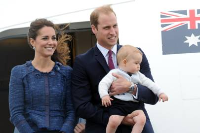 The Duchess of Cambridge, The Duke of Cambridge and Prince George of Cambridge