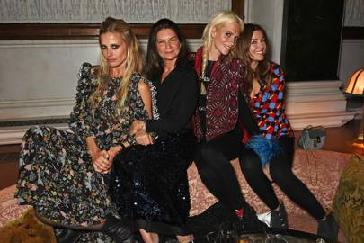 Laura Bailey, Dame Natalie Massenet, Poppy Delevingne and Sara MacDonald