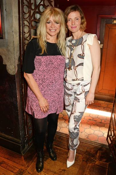 Jo Wood and Camilla Rutherford