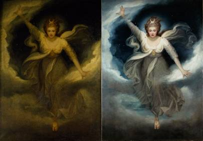 Before and after: Maria Cosway's painting of Georgiana, Duchess of Devonshire