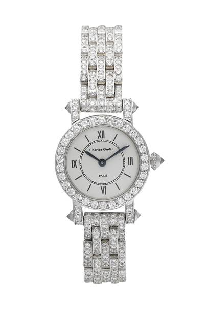 White-gold and diamond watch, £47,000, by Charles Oudin