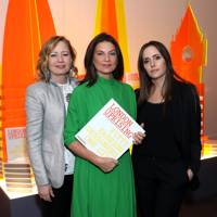 Sarah Mower, Dame Natalie Massenet and Tania Fares
