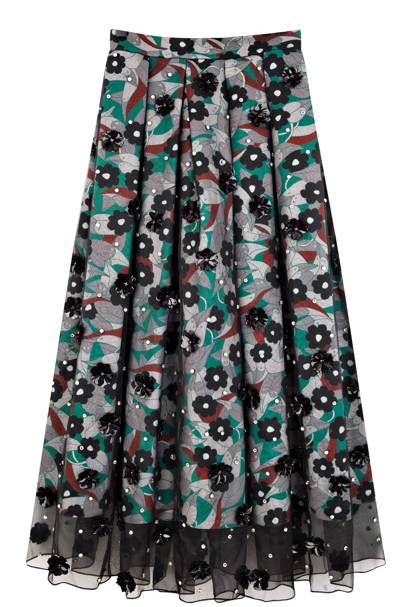 Silk skirt, £1,380, by Holly Fulton