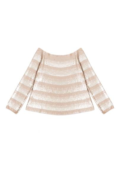 Sequin & cotton top, £4,230, by Giorgio Armani