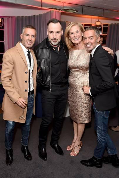 Dean Caten, David Furnish, Jo Levin and Dan Caten