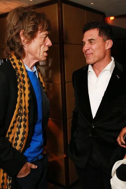 Mick Jagger and Andre Balazs
