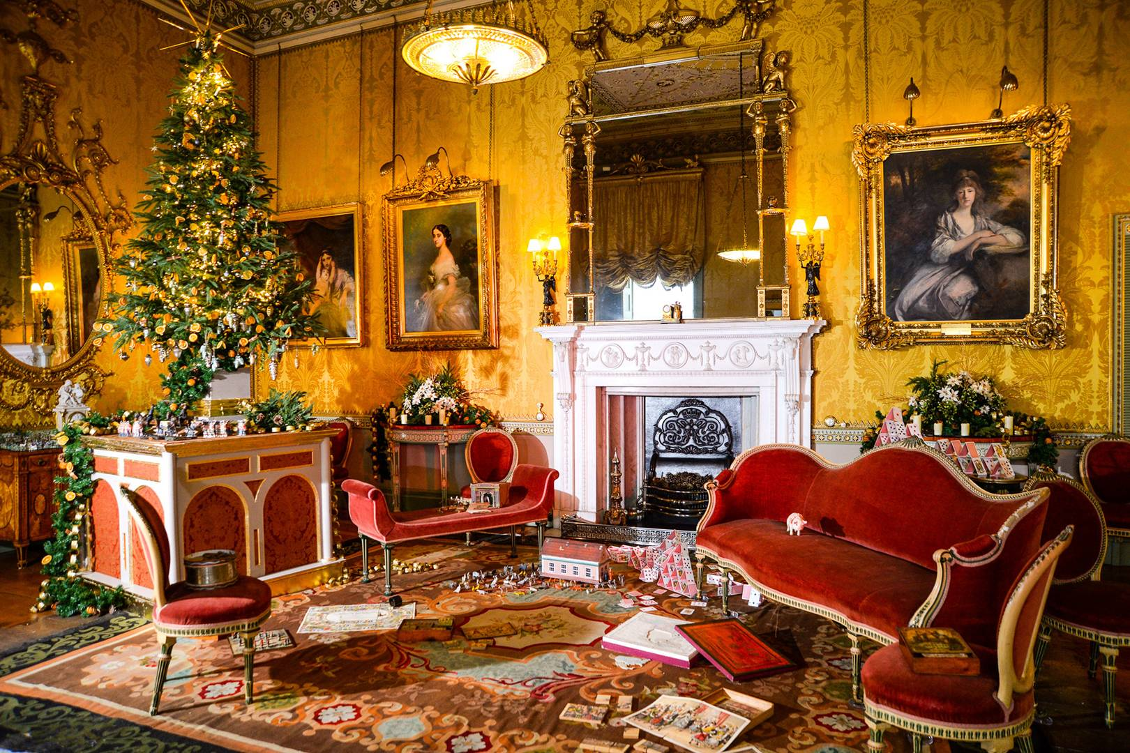 how britains finest stately homes do christmas highclere castle chatsworth belvoir castle tatler