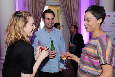 Freya Mavor, Peter Gingell and Cush Jumbo