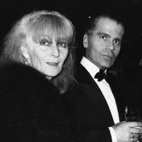 Sonia Rykiel and Karl Lagerfeld