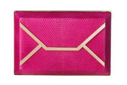 Leather clutch, £1,250, by Smythson