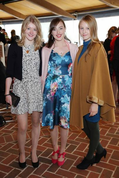 Ellie Morris, Rosie Lamb and Karolina Csathy