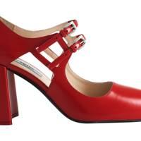 Leather heels, £550, by Prada